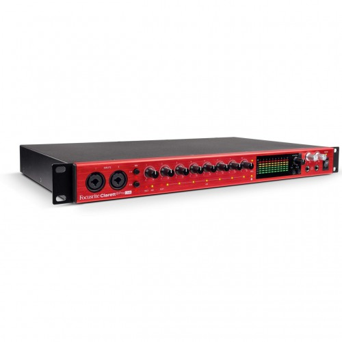 Interface Audio por USB Focusrite Clarett 8Pre USB angle