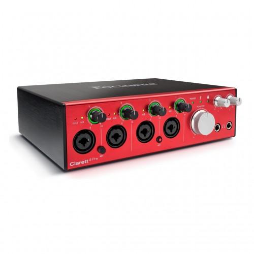 Interfaz Audio por USB Focusrite Clarett 4Pre angle