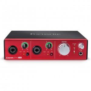 Interface Audio por USB Focusrite Clarett 2Pre USB top