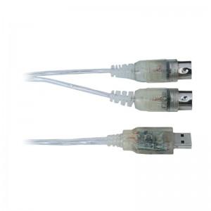 Cable-Interface OQAN QABL INT USB-MIDI (USB A/M-2 MIDI 5 DIN/M)