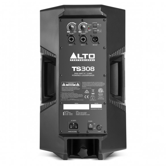 Altavoz Activo Full-Range Alto Professional TS308 rear