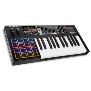 Teclado Controlador MIDI USB 25 Teclas M-Audio Code 25 Black angle