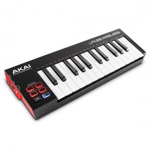 Teclados MIDI USB Wireless 25 Teclas Akai LPK25 Wireless angle