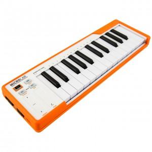 Teclado Controlador MIDI USB 25 Teclas Arturia MicroLab Orange angle