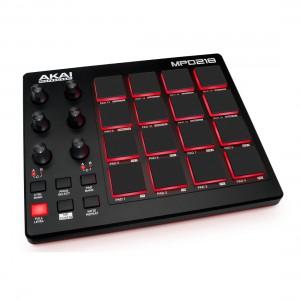Superfície de Control MIDI USB Akai MPD218 angle