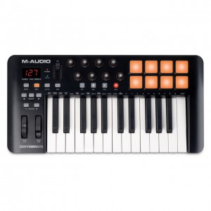 Teclado Controlador MIDI USB 25 Teclas M-Audio Oxygen 25 MK4 top