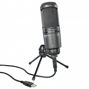 Micrófono USB Estudio Audio-Technica AT2020 USB+ top