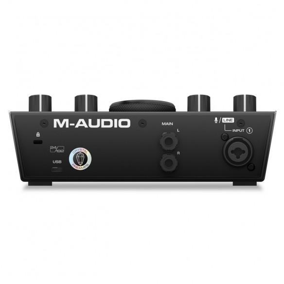 Pack Estudio M-Audio AIR 192|4 Vocal Studio Pro air1924-interface-rear