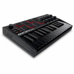 Teclado Controlador MIDI USB 25 Teclas Akai MPK Mini MK3 Black angle