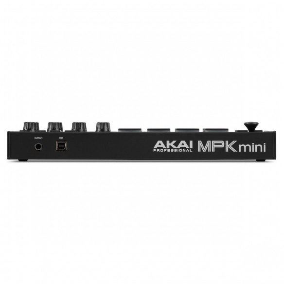 Teclado Controlador MIDI USB 25 Teclas Akai MPK Mini MK3 Black rear