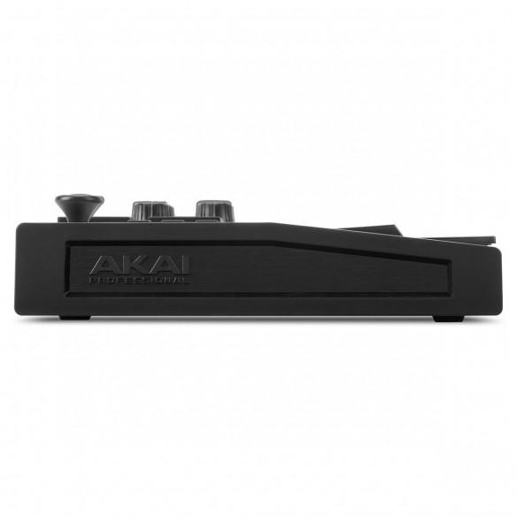 Teclado Controlador MIDI USB 25 Teclas Akai MPK Mini MK3 Black side