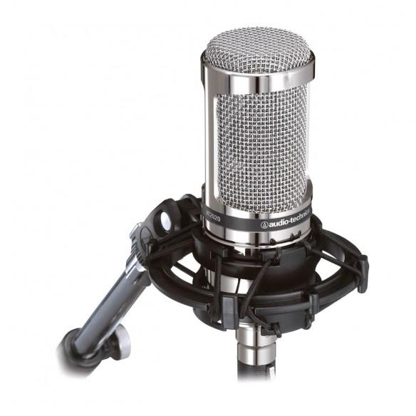 Micrófono de Condensador Estudio Audio-Technica AT2020V mic-shock-mount-detail