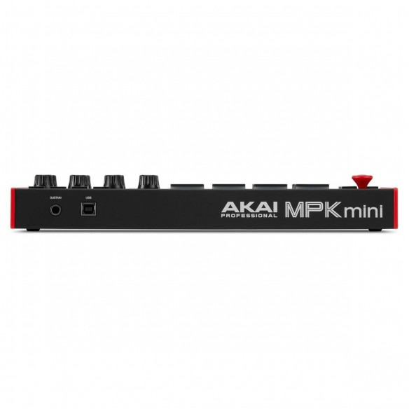 Teclado Controlador MIDI USB 25 Teclas Akai MPK Mini MK3 rear