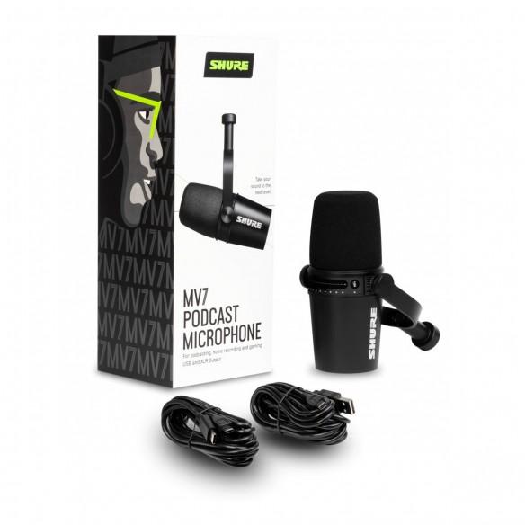 Micrófono Dinámico Shure MV7-K box-detail