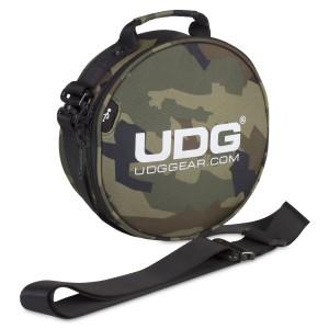 Bolsa Auriculares DJ UDG Ultimate DIGI Headphone Bag (Black Camo Orange Inside) angle