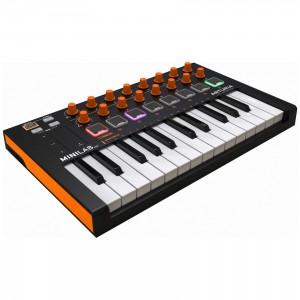 Teclado Controlador MIDI USB 25 Teclas Arturia MiniLab MkII Orange Edition angle