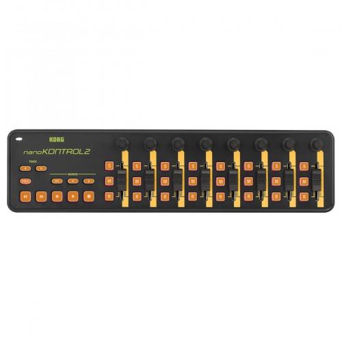 Superficie de Control MIDI USB Korg NanoKontrol2 (Orange-Green) top